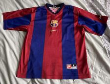 1998-2000 Barcelona Hogar Camiseta De Fútbol Talla S