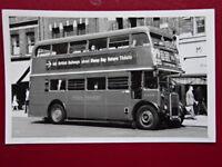 PHOTO  LONDON TRANSPORT BUS NO RTW299 ATWALWORTH 16/6/62