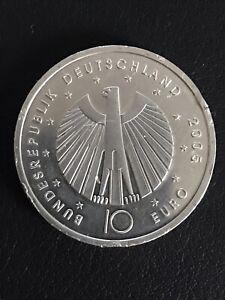 """10 Euro 2005 Silbermünze """"FIFA Fussball WM Deutschland"""