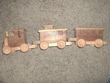 Wood train set 3 pcs