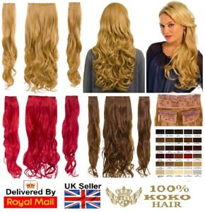 KOKO Thick 190g Three Piece/Weft Curly Clip-in Hair Extensions Various Colours