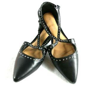 Rampage Womens' Sling Back Black Ballet Flats Size 6.5