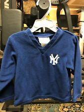 MLB Genuine Merchandise Size 3T, Yankees Sweatshirt Warm Polyester Toddler Blue