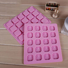 New Silicone 20 Cavity Cake Chocolate Cookie Baking Mould Pan Soap Ice Cube Tray