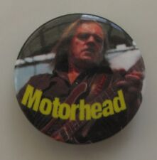 MOTORHEAD LEMMY VINTAGE METAL BUTTON BADGE FROM THE 1980's / 90's NEW OLD STOCK