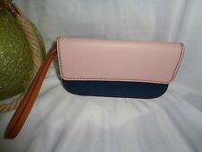 Fossil Sofia Phone Wristlet Clutch Leather Wallet Pink Multi SWL2405664