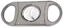 Cigar Cutter Silver Double Blade Guillotine Cigar Cutter - Cuts To 64 Ring Gauge