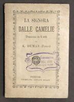 Teatro - Signora delle Camelie Dramma in 5 atti di A. Dumas (figlio) - 1920