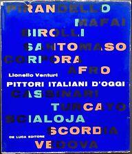 VENTURI Lionello, Pittori italiani d'oggi. 66 tavole a colori. De Luca, 1958