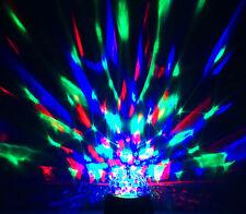 LAMPADINA LED ALIMENTATA A BATTERIA rotazione filatura cristallo discoteca palla colore PARTY Lampada