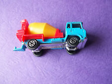 Vintage Blue Yatming Cabover Yellow Cement Mixer Toy Truck ~ Preloved