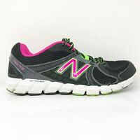 New Balance Womens 750 V2 W750BG2 Black Grey Running Shoes Lace Up Size 9.5 D
