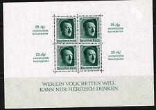 Germany WW2 Hitler Souvenir Sheet 1937 B106 MLH