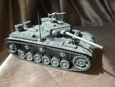 Vintage and very rare 1/21 Tamiya Mokei German Panzer III Motorized Built Model
