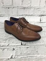 NEXT - Tan Leather Lace Up Brogue Style Smart Formal Shoes - Mens - Size 6