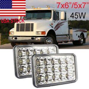 """7""""X6"""" LED Headlight For Freightliner FL106 FL112 FL60 FL70 FL80 FS65 MT35 MT45"""