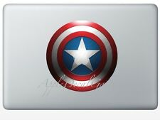 Captain America Shield Decal Sticker Skin for Macbook Pro Air 11 13 15 17 in SD