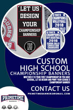Custom High School Sports Championship Banners - Any Size, Fully Customizable