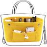 Felt Purse Handbag Insert Bag Organizer Inner Bag Multi-pockets Cosmetic Storage