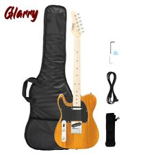 More details for glarry tele-styled electric guitar maple f-board solid left hand uk stock orange