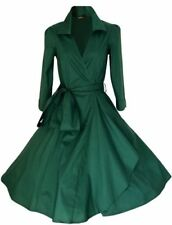 Rockabilly Regular Size V-Neck Dresses for Women