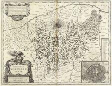 NÜRNBERG - TERRITORIUM NORIMBERGENSE - Willem Blaeu - Kupferkarte 1644/1645