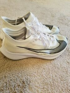 Nike Air Zoom Fly 3 Vaporweave Men's Size 11.5 Running Shoes AT8240-100 White