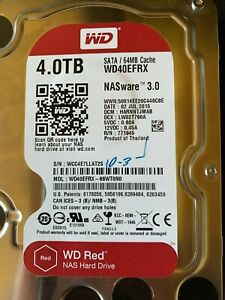 "Western Digital WD Red 4TB, Internal, 5400 RPM, 3.5"" WD40EFRX, Hard Drive, NAS"