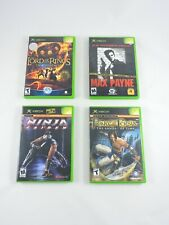 XBOX Lot of 4 games Ninja Gaiden MAX PAYNE Lord of the Rings PRINCE OF PERSIA