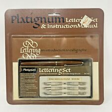 New Platignum Lettering Set & Instruction Manual Introduction To Calligraphy