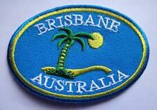 CUTE PRETTY BRISBANE AUSTRALIA LOGO Embroidered Iron on Patch Free Postage