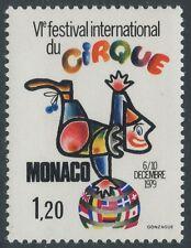 1979 MONACO N°1201** Cirque, clown, Circus MNH