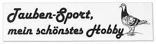Tauben Aufkleber Applikation 4,5 x 17 cm Hobby Taubensport TB766