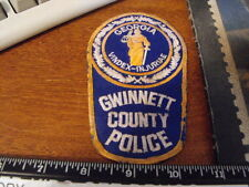 Gwinnett County  Ga . County Police Department Patch