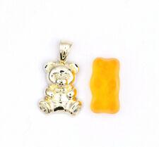10k Yellow Sold Gold Fine Jewelry TEDDY BEAR Pendant