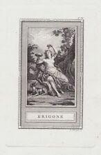 Erigone Antike Römer Griechen Mythologie mythology Kupferstich etching