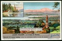 Italy Lake Varese History c50 Y/O Trade Ad Card