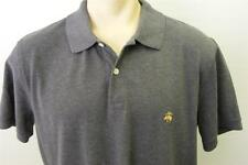 mens BROOKS BROTHERS short sleeve POLO shirt X LARGE XL CHARCAOL GRAY CLEAN
