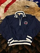 VTG 80s 1984 Denver Broncos Silver 25th Anniversary AFL Team Pullover Jacket M