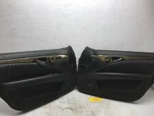 03-09 MERCEDES E63 W211 AMG COMPLETE FRONT BLACK LEATHER DOOR PANELS SWITCHES