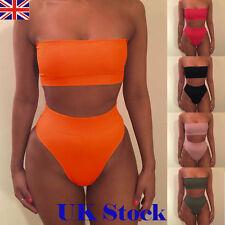 UK Women Bandage Bikini Push-up Padded Bra Swimsuit Bathing 2pcs Set Swimwear