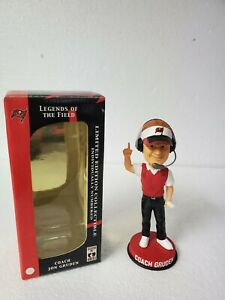 Coach Jon Gruden Legends Of The Field Bobblehead Limited Edition # 8549 Of 15000