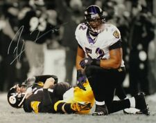 NFL Baltimore HOF Ravens Ray Lewis 8x10 Signed Autographed Reprint Photo Sack