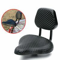 Comfort Wide Cruiser Bike Saddle Seat Soft Cushion Pad Bicycle Seat W/ Back Rest