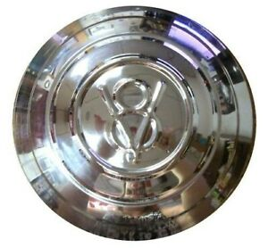 Hubcap 1932 Ford Car or Pickup with V8 - Polished Stainless Steel