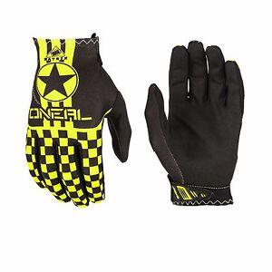 O'Neal Matrix WINGMAN Cycling Full Finger Gloves Neon Yellow Black Size S-XL