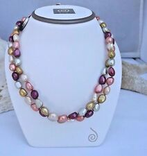 GORGEOUS  HONORA  8-9mm SUNRISE BAROQUE  PEARL NECKLACE NEW  36""