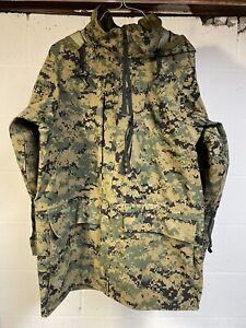 2008 US Marine Corps USMC MARPAT Woodland Gore-Tex Parka Jacket Medium Tennier