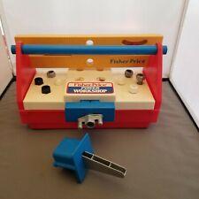 Fisher Price Power Workshop Kids Tools W Accessories & Drill Vintage #2008