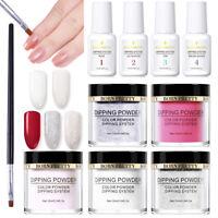 BORN PRETTY Nail Art Dipping Powder System Liquid with Powder Brush Kit No Gel